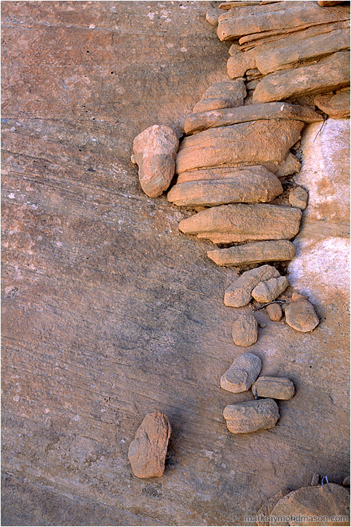 Stacked Stones: Near Bryce Canyon, UT, USA (2003-00-00) - Abstract photograph of eroded sandstone blocks, stacked together in patterns