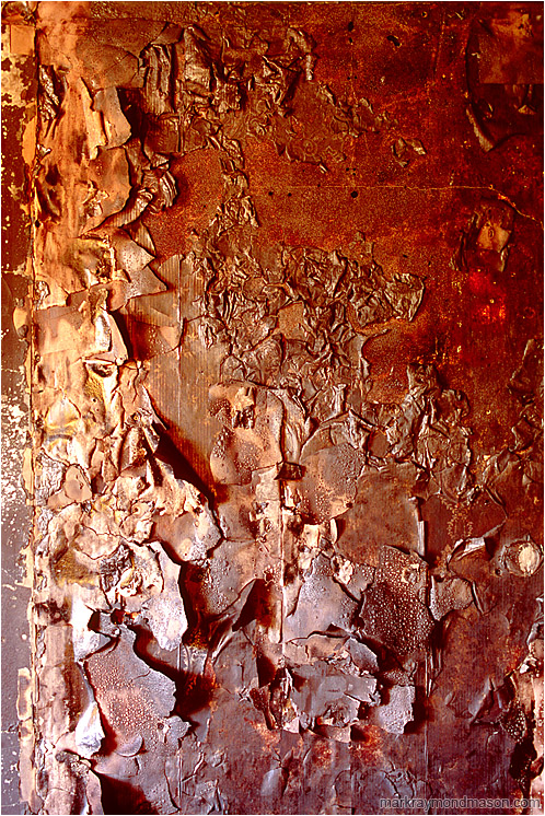 Fire Damage: Calgary, AB, Canada (2007-00-00) - Abstract fine art photograph of a burnt, blistered wall inside a fire-damaged house