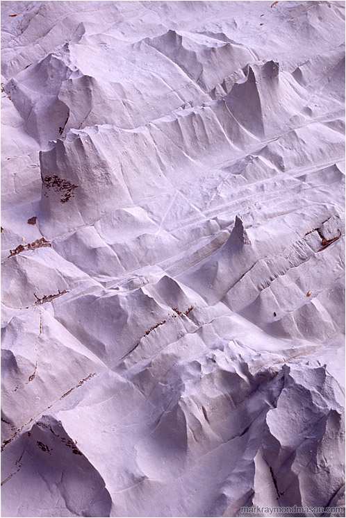 Burnished Limestone: Near Limestone Lakes, BC, Canada (2008) - Fine art photograph showing patterns and shapes in smooth, weather-worn limestone